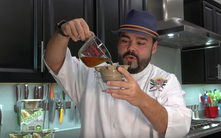 Chef Anthony Serrano provides a FOG Safe Drain Guard review and camping tip.