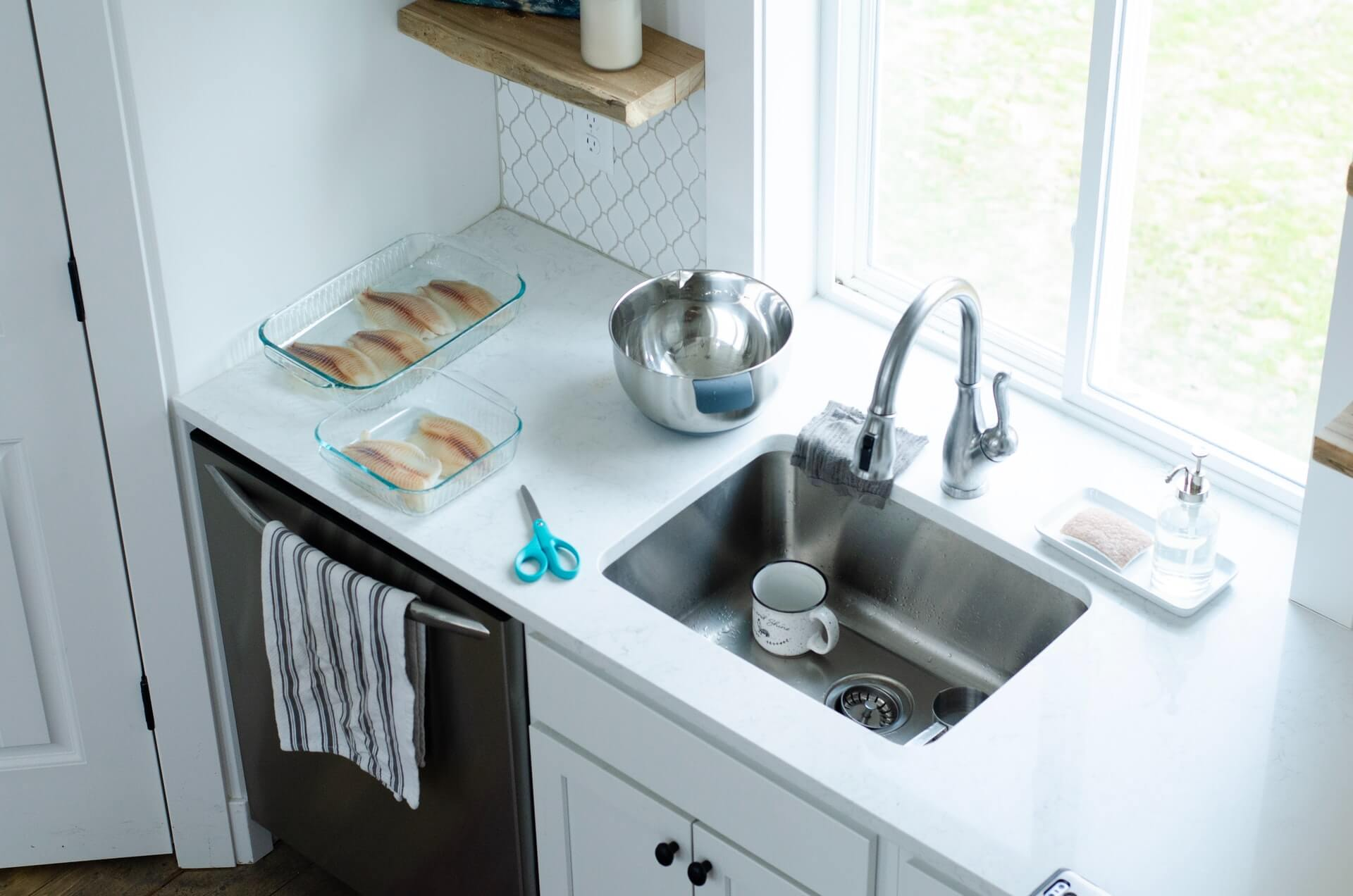 How to avoid a stinky kitchen sink drain.