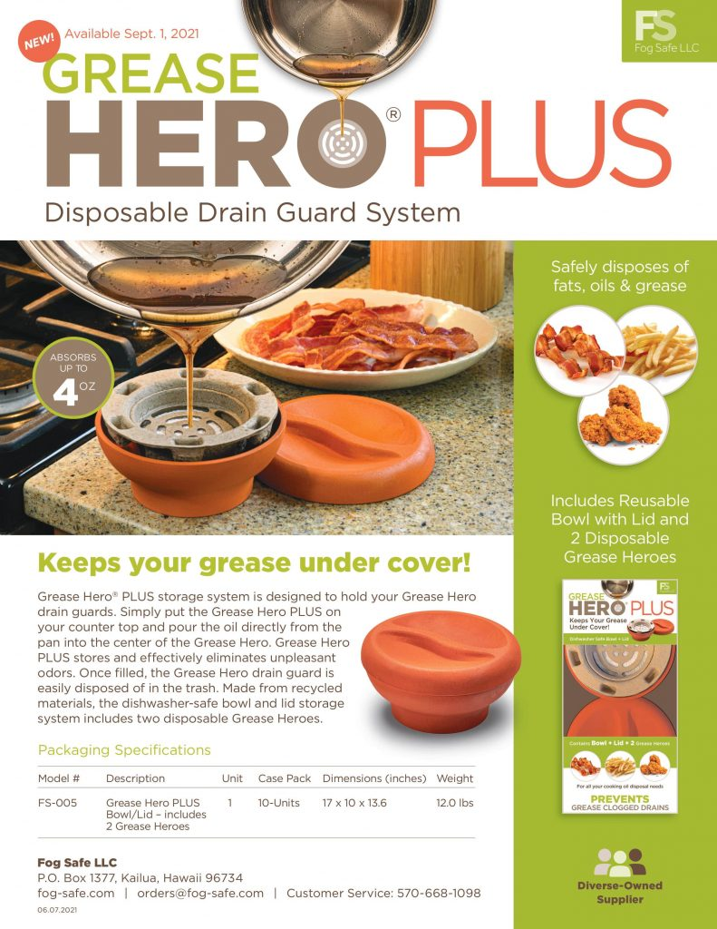 Grease Hero PLUS is an environmentally friendly storage solution for used cooking oil and grease.